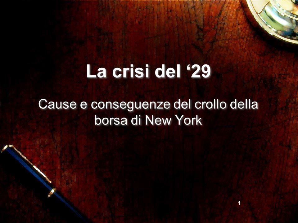 Cause e conseguenze del crollo della borsa di New York