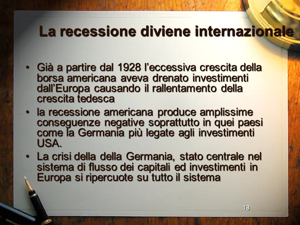 La recessione diviene internazionale