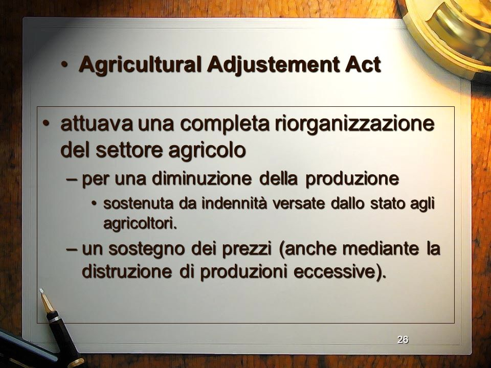 Agricultural Adjustement Act