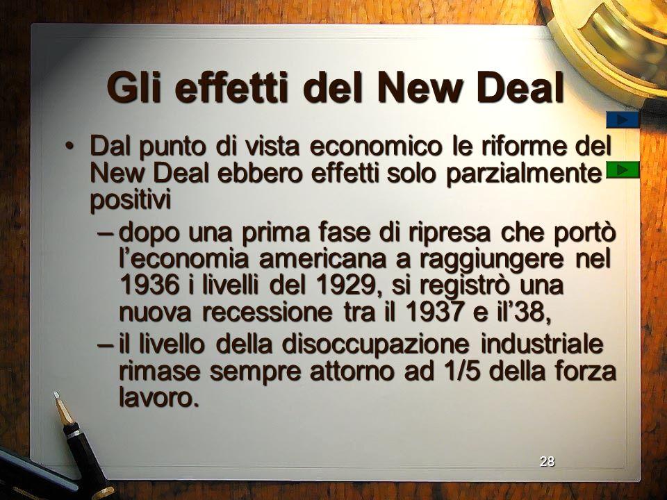 Gli effetti del New Deal