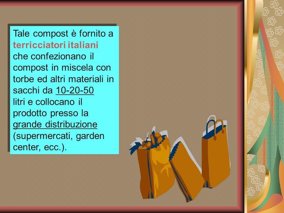 Tale compost è fornito a terricciatori italiani