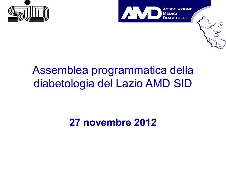 Assemblea programmatica della diabetologia del Lazio AMD SID