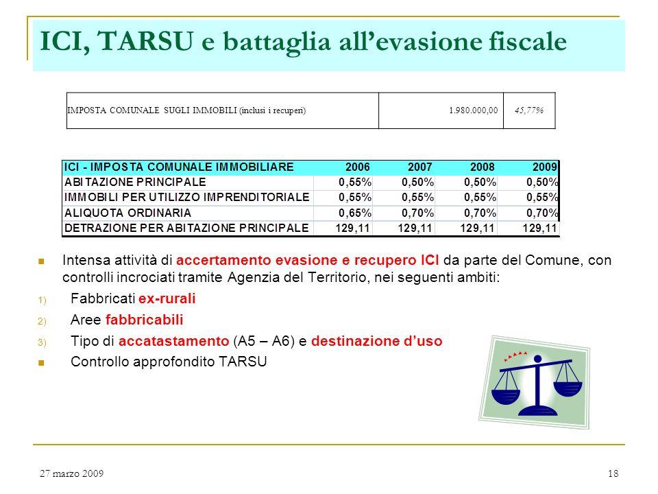ICI, TARSU e battaglia all'evasione fiscale