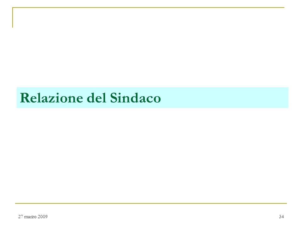 Relazione del Sindaco 27 marzo 2009 San Severino Marche - Rendiconto di Gestione 2005