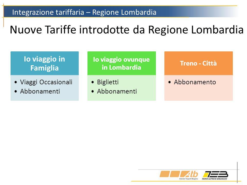 Nuove Tariffe introdotte da Regione Lombardia