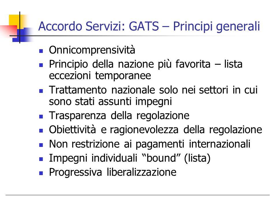 Accordo Servizi: GATS – Principi generali