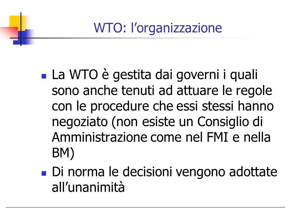 WTO: l'organizzazione