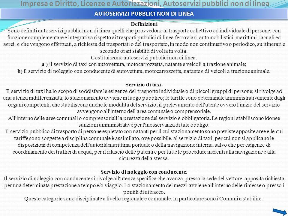 AUTOSERVIZI PUBBLICI NON DI LINEA