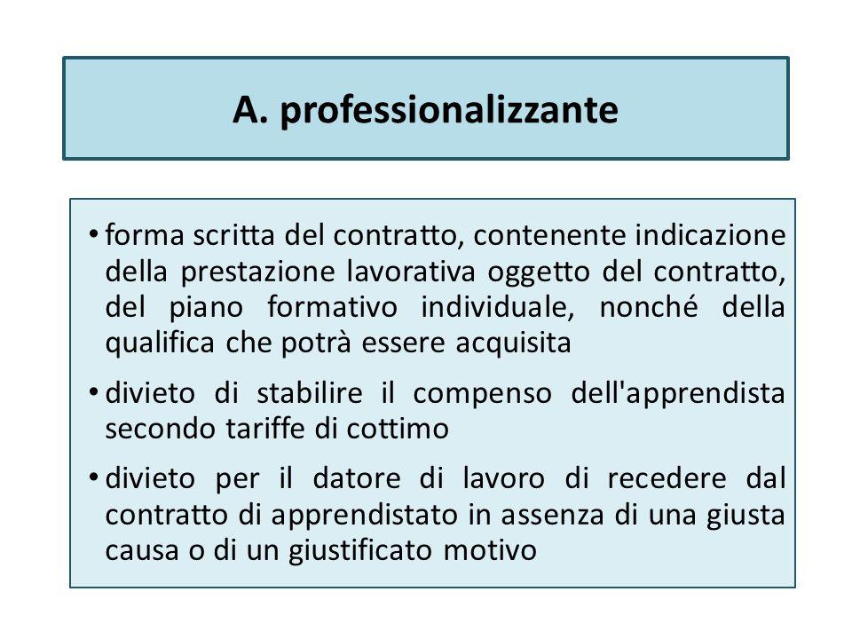A. professionalizzante