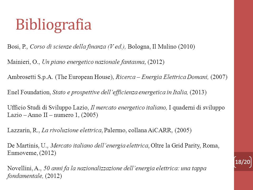 Bibliografia Bosi, P., Corso di scienze della finanza (V ed.), Bologna, Il Mulino (2010)
