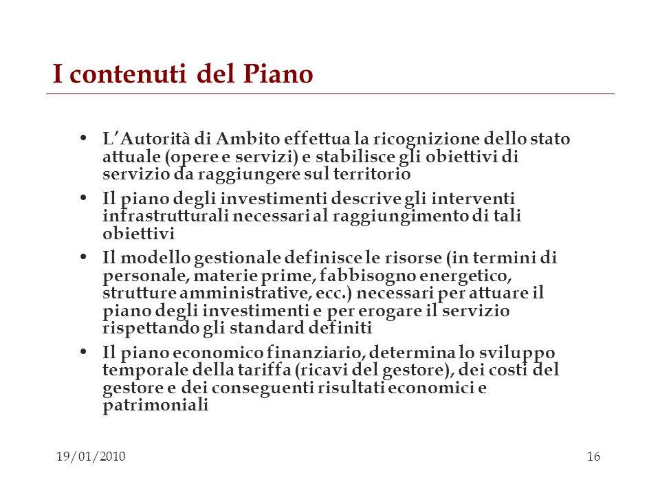 I contenuti del Piano