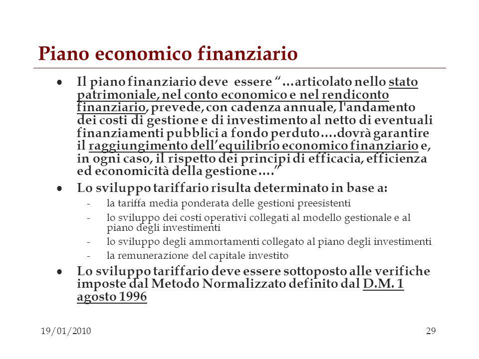 Piano economico finanziario