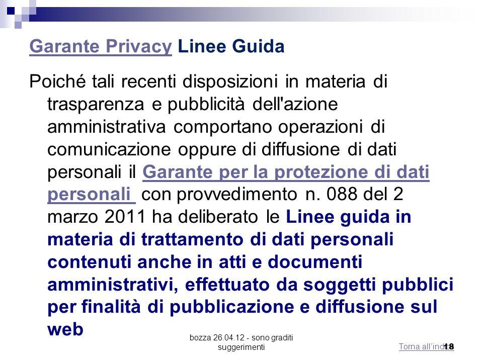Garante Privacy Linee Guida