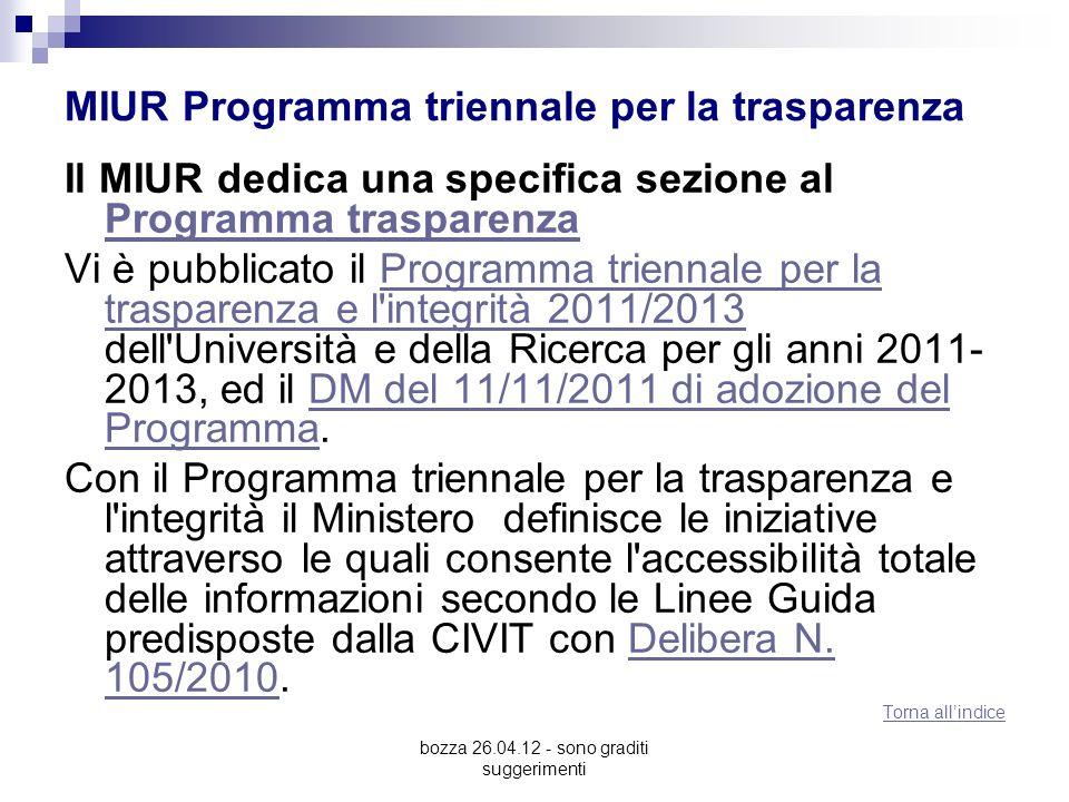 MIUR Programma triennale per la trasparenza