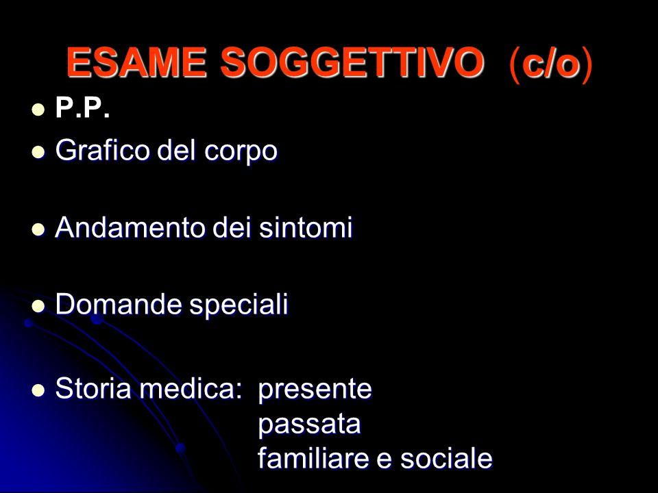 ESAME SOGGETTIVO (c/o)