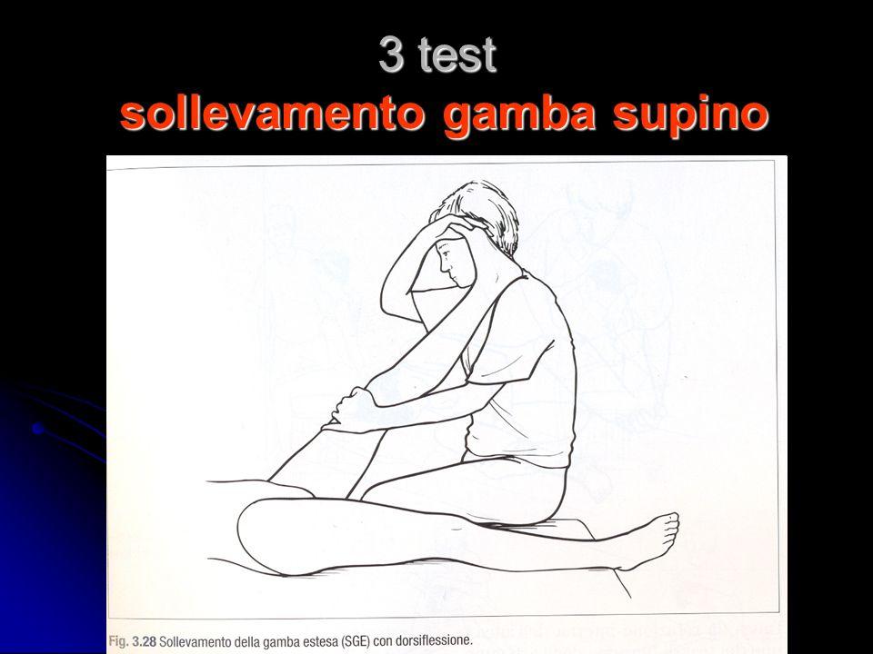 3 test sollevamento gamba supino