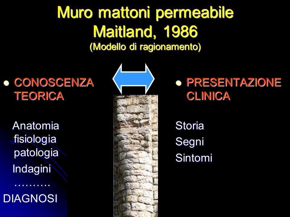 Muro mattoni permeabile Maitland, 1986 (Modello di ragionamento)