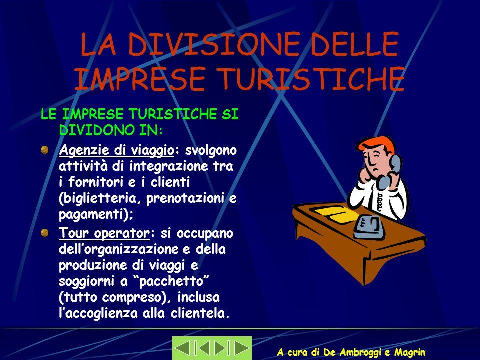 LA DIVISIONE DELLE IMPRESE TURISTICHE