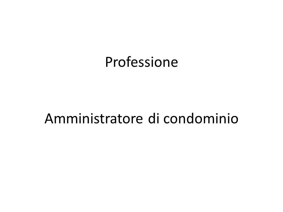Professione Amministratore di condominio