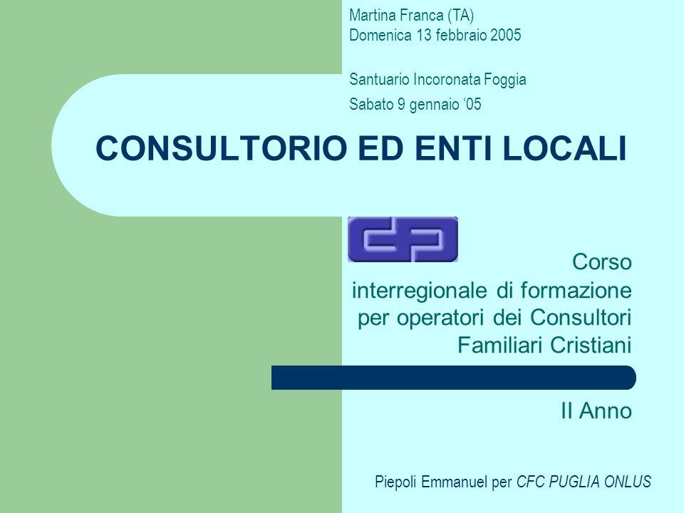 CONSULTORIO ED ENTI LOCALI