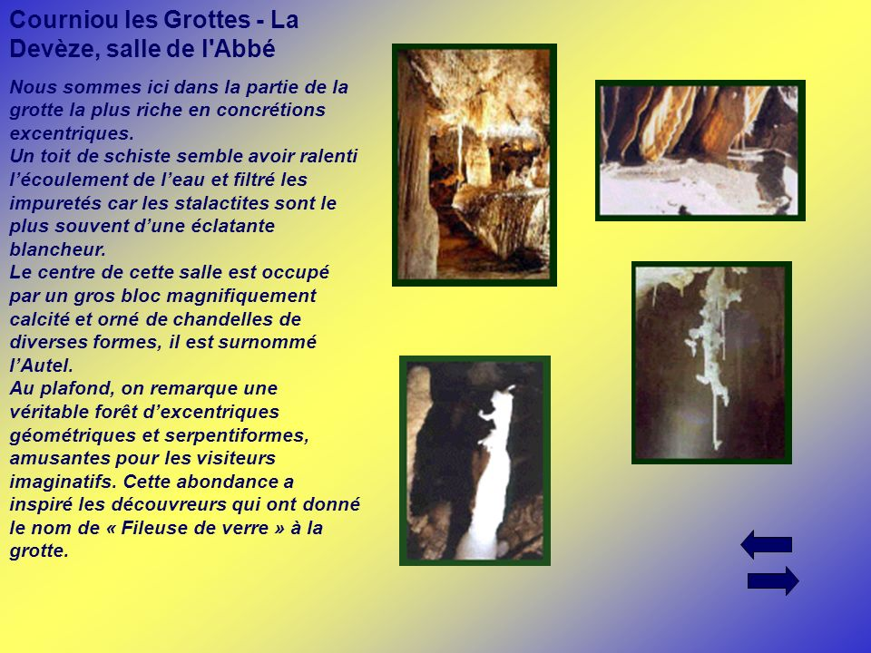 Courniou les Grottes - La Devèze, salle de l Abbé