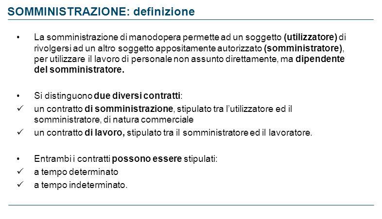 SOMMINISTRAZIONE: definizione