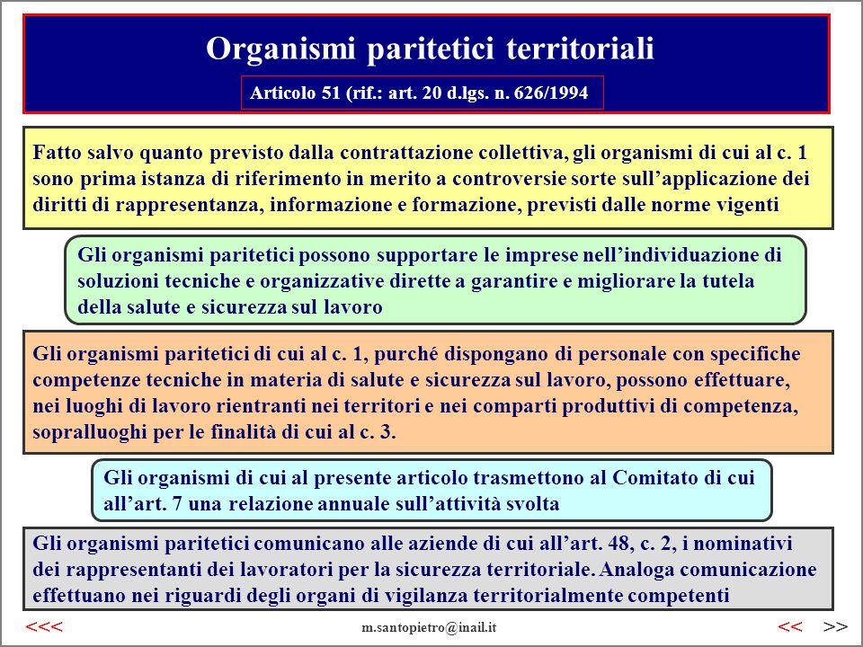 Organismi paritetici territoriali