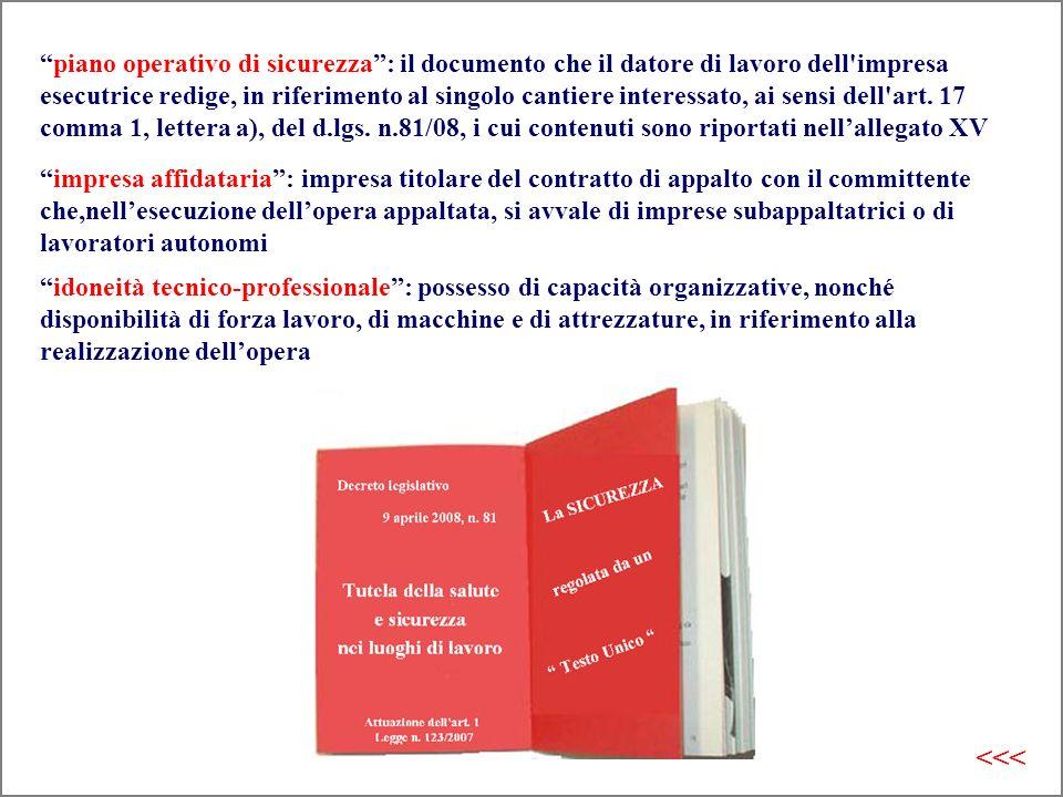 piano operativo di sicurezza : il documento che il datore di lavoro dell impresa