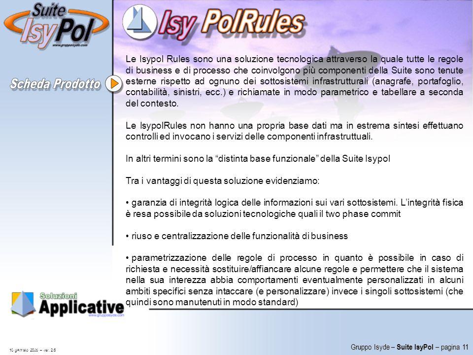 In altri termini sono la distinta base funzionale della Suite Isypol