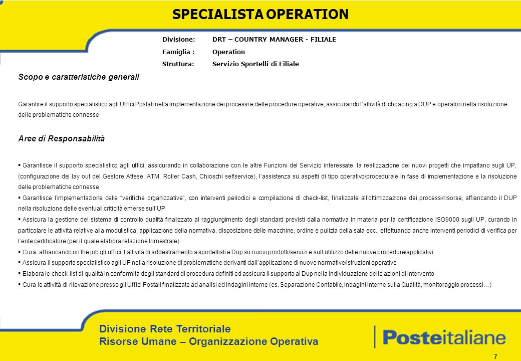 SPECIALISTA OPERATION