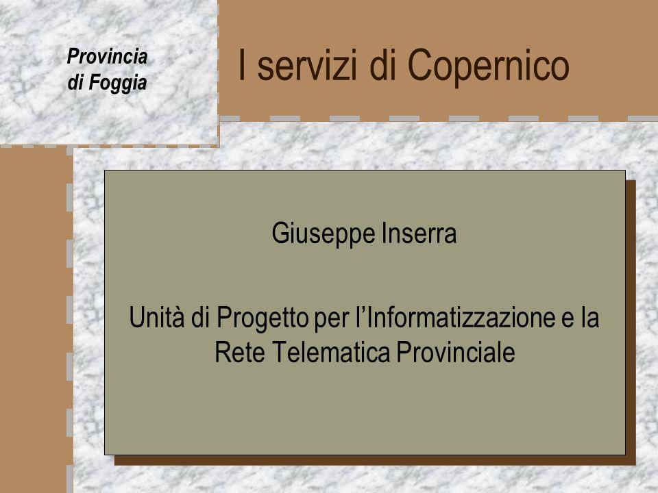 I servizi di Copernico Giuseppe Inserra