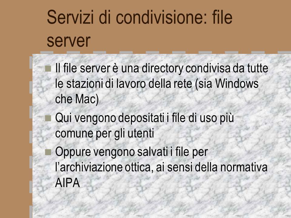 Servizi di condivisione: file server
