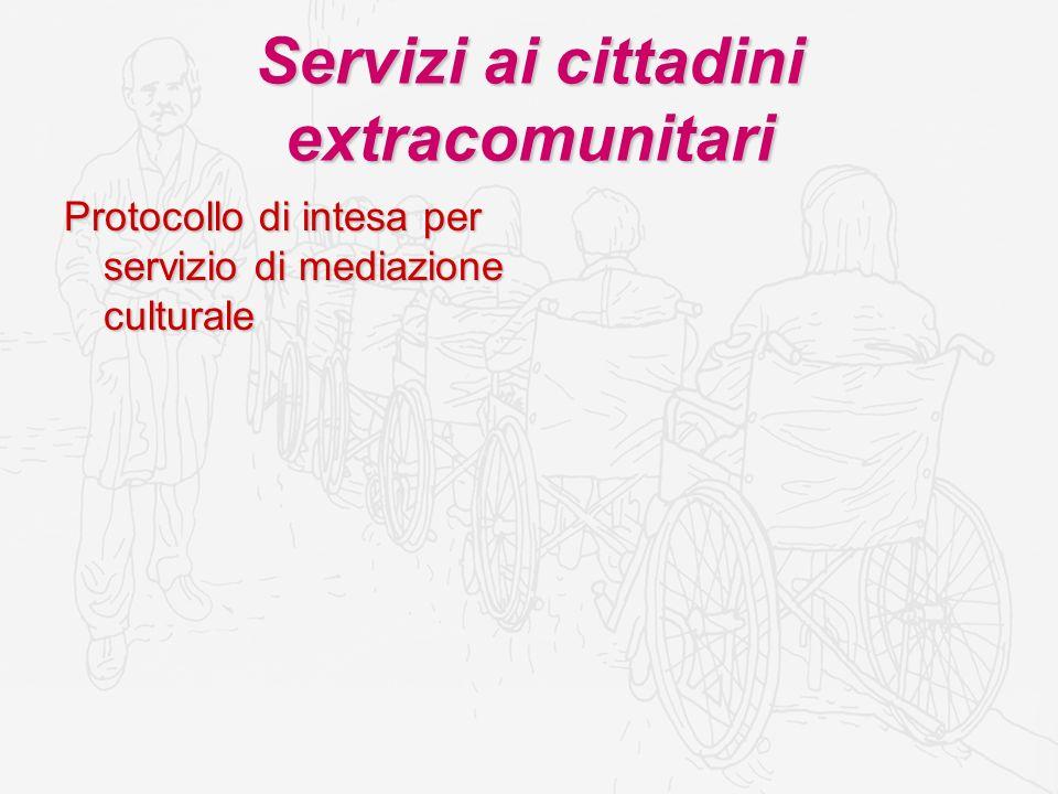 Servizi ai cittadini extracomunitari