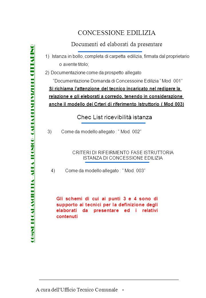 CONCESSIONE EDILIZIA Documenti ed elaborati da presentare