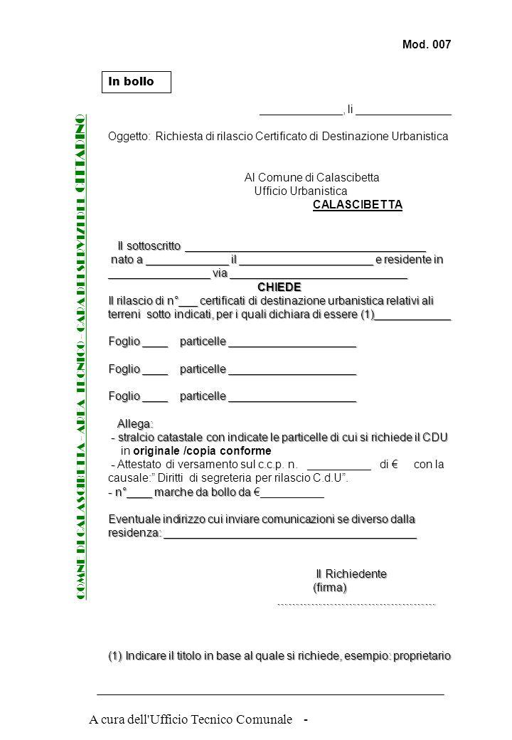 COMNE DI CALASCIBETTA - AREA TECNICO - CARA DEI SERVIZI DEL CITTADINO
