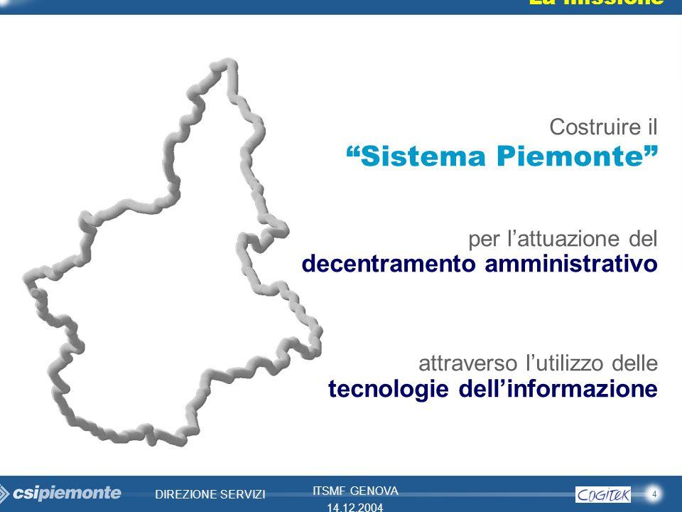 Sistema Piemonte decentramento amministrativo Costruire il