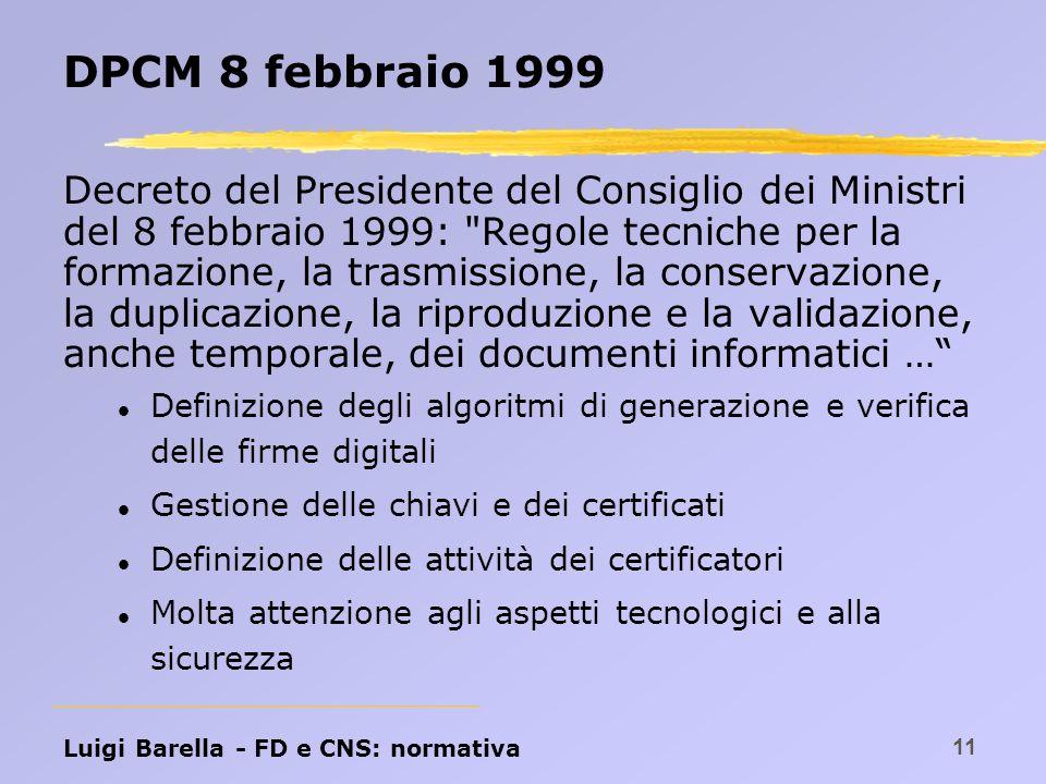 DPCM 8 febbraio 1999