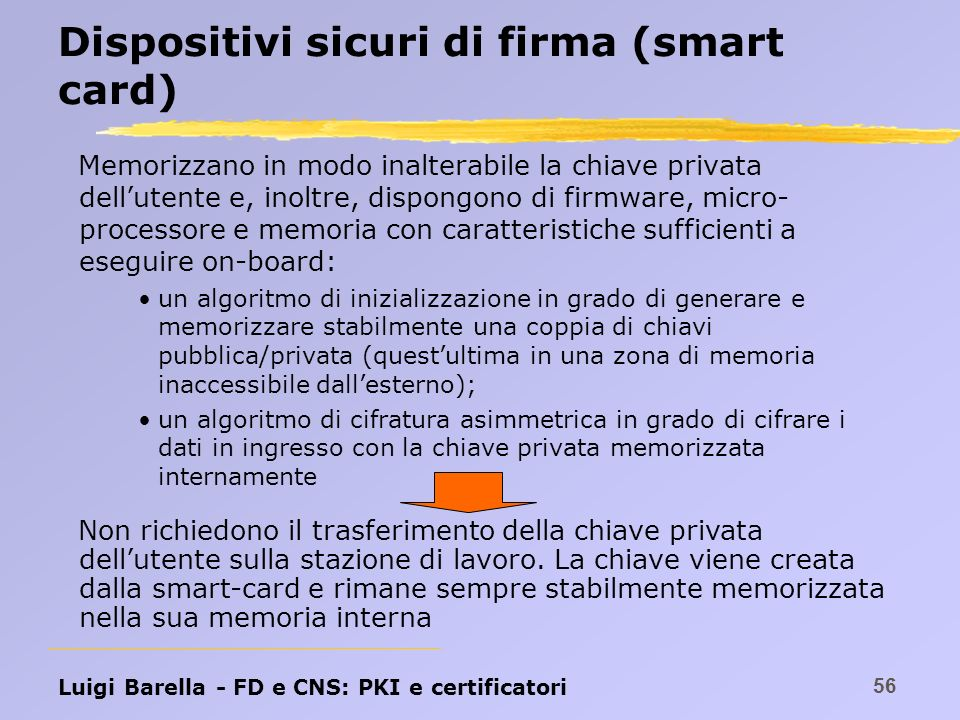 Dispositivi sicuri di firma (smart card)