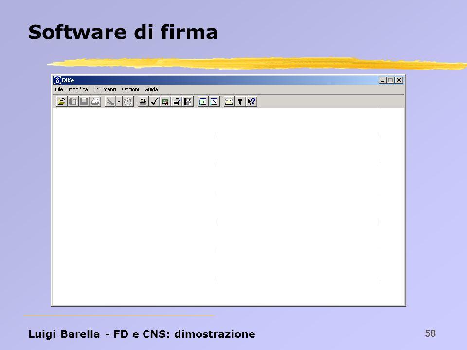 Software di firma Luigi Barella - FD e CNS: dimostrazione