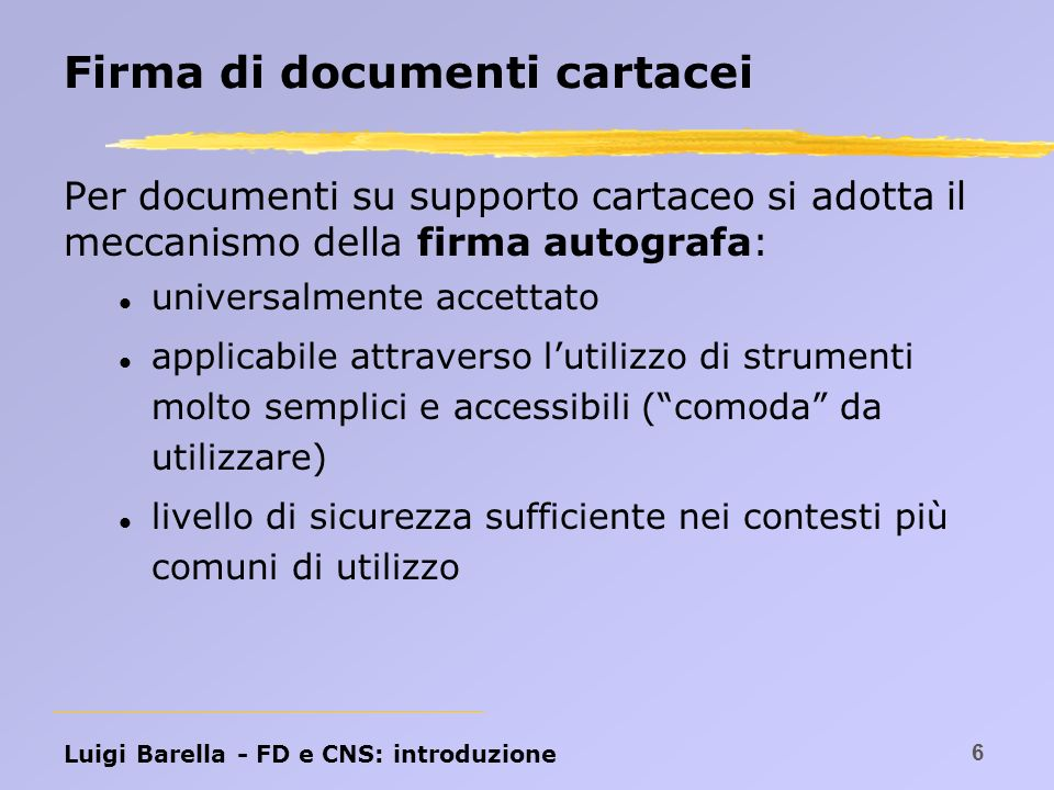 Firma di documenti cartacei