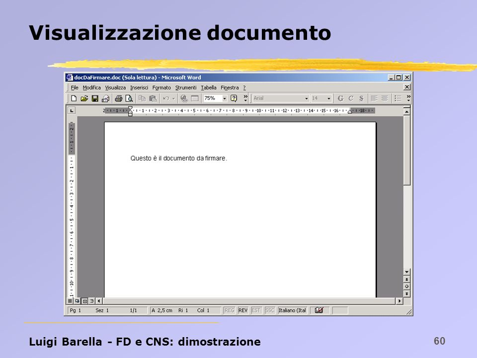 Visualizzazione documento