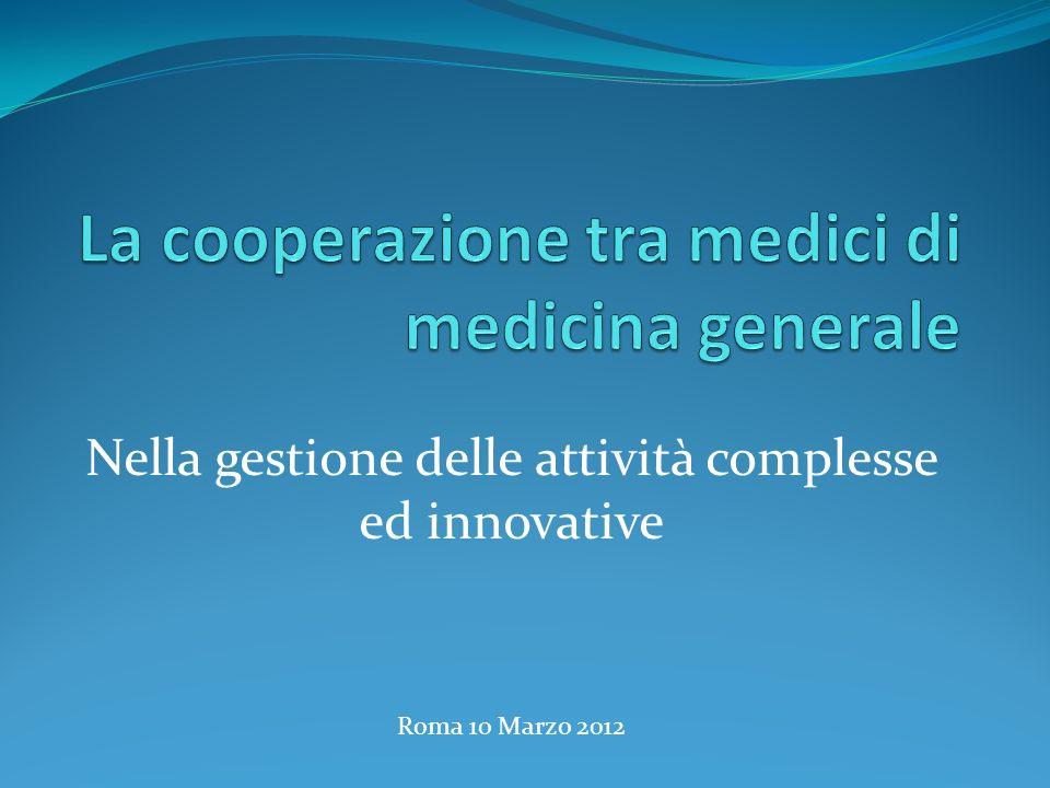 La cooperazione tra medici di medicina generale