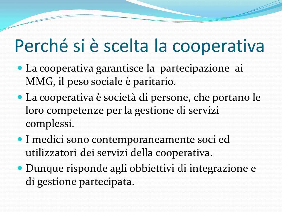 Perché si è scelta la cooperativa