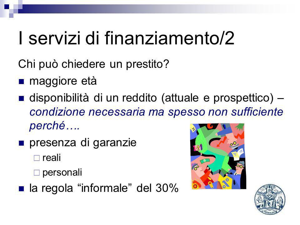 I servizi di finanziamento/2