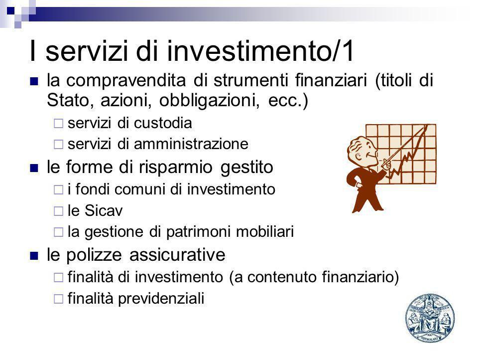 I servizi di investimento/1