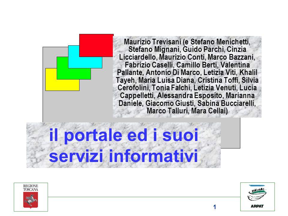 il portale ed i suoi servizi informativi