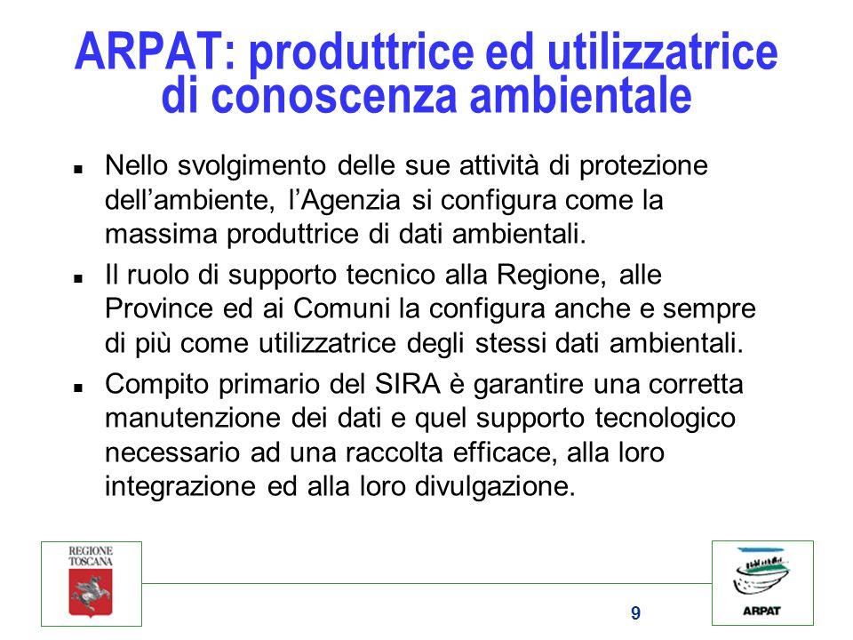 ARPAT: produttrice ed utilizzatrice di conoscenza ambientale