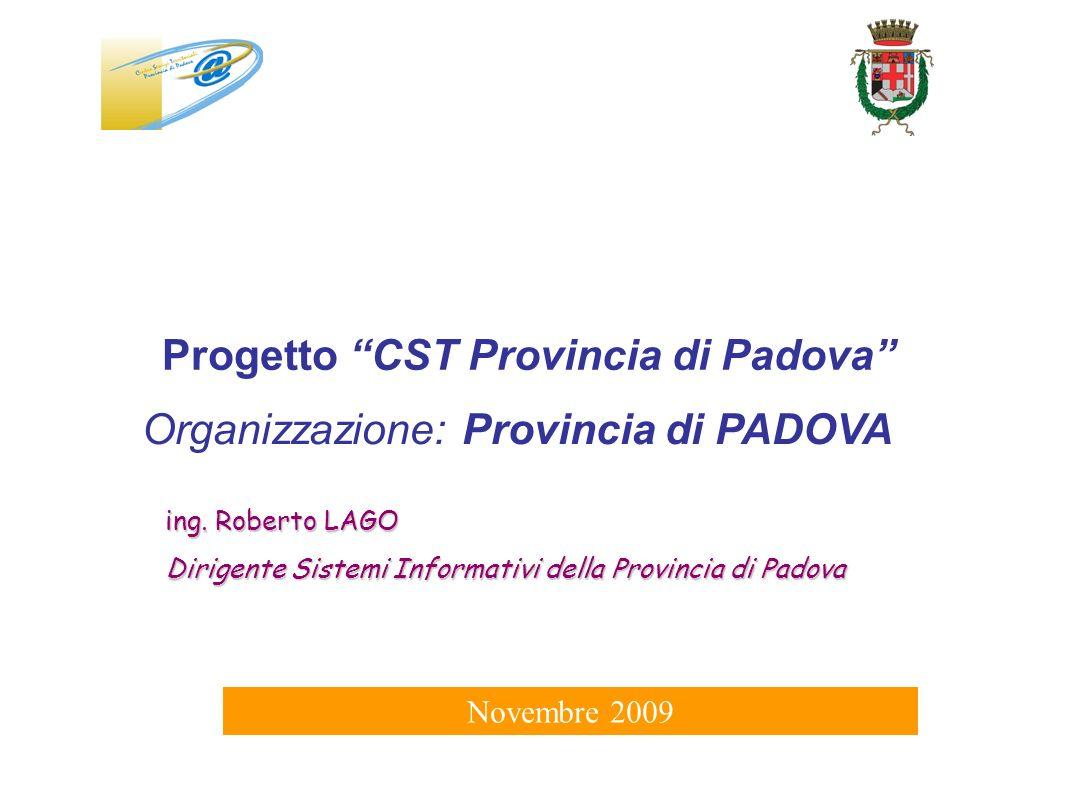 Progetto CST Provincia di Padova