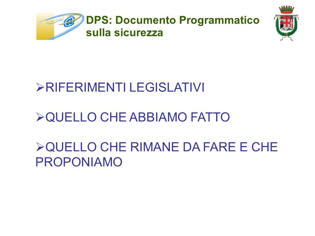 DPS: Documento Programmatico sulla sicurezza