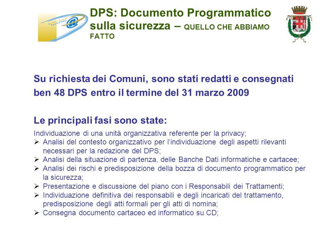 DPS: Documento Programmatico sulla sicurezza – QUELLO CHE ABBIAMO FATTO